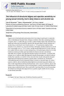The influence of structural stigma and rejection sensitivity on young sexual minority men's daily tobacco and alcohol use.