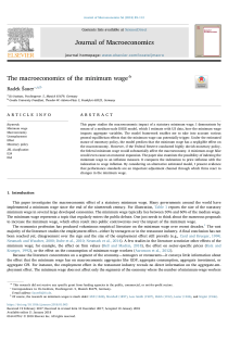 The Macroeconomics of the Minimum Wage.