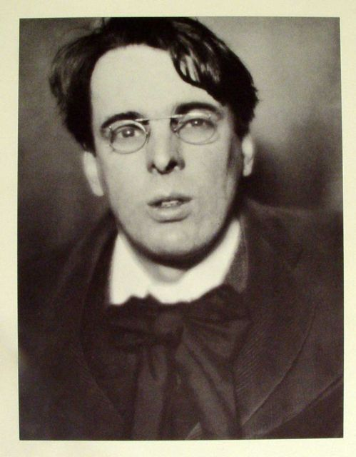 """William Butler Yeats, 1913"" photogravure from ""Men of Mark"" by Alvin Langdon Coburn, his book celebrating authors, artists and statesmen (courtesy of MFA, Boston)"