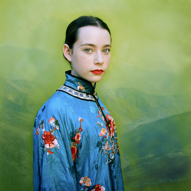 """""""Lucy in Turquoise"""" archival pigment print from the series """"Revisiting Beauty"""" by Aline Smithson (courtesy of the artist and Drift Gallery)"""