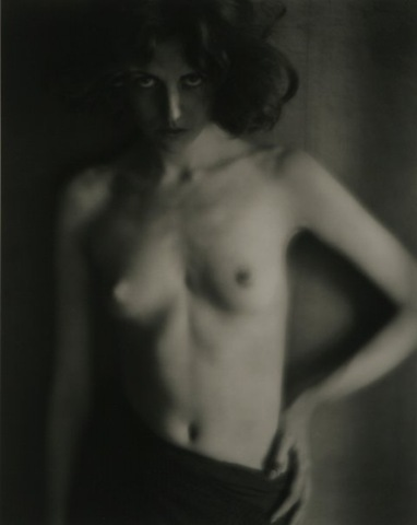 """Nude, circa 1918"" platinum print by Edward Weston in the Pictorialist style (courtesy MFA, Boston)"