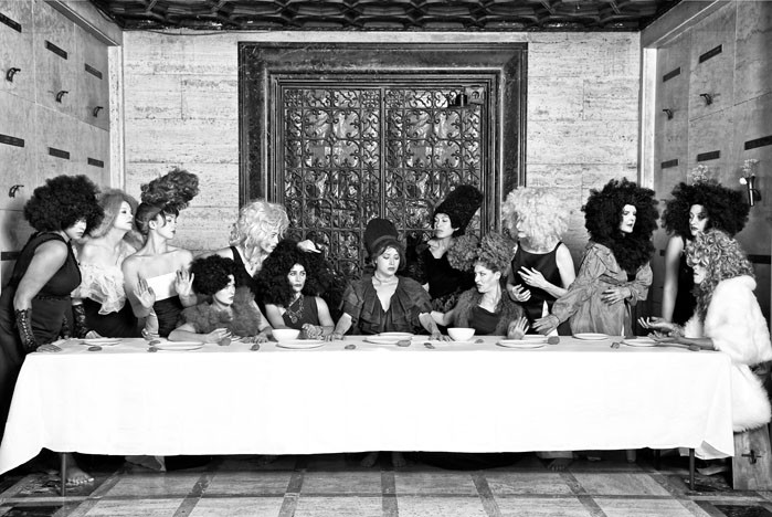 """Her Last Supper"" from the series ""Her"" by Marjorie Salvaterra (courtesy of the artist)"