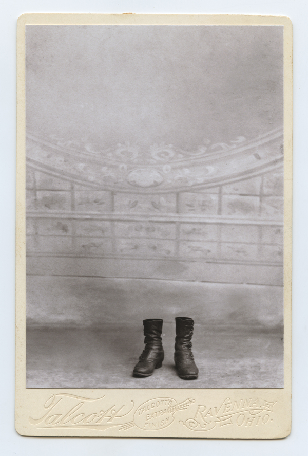 """""""Vestige #9"""" digital print on antique Cabinet Card from the series """"Behance"""" by Honorable Mention winner Greg Sand (courtesy of the artist)"""