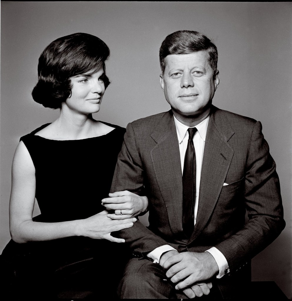 """Jacqueline and John F. Kennedy, c.1960"" gelatin silver print by Richard Avedon (courtesy of the artist)"