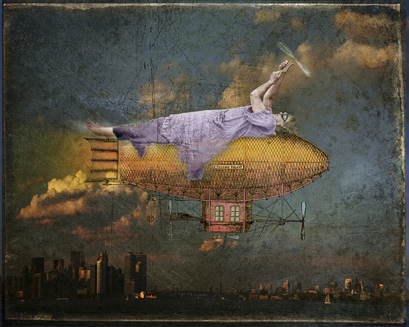 """""""Le Poisson Volant"""" photo montage by Fran Forman (courtesy of the artist and Pucker Gallery, Boston)"""
