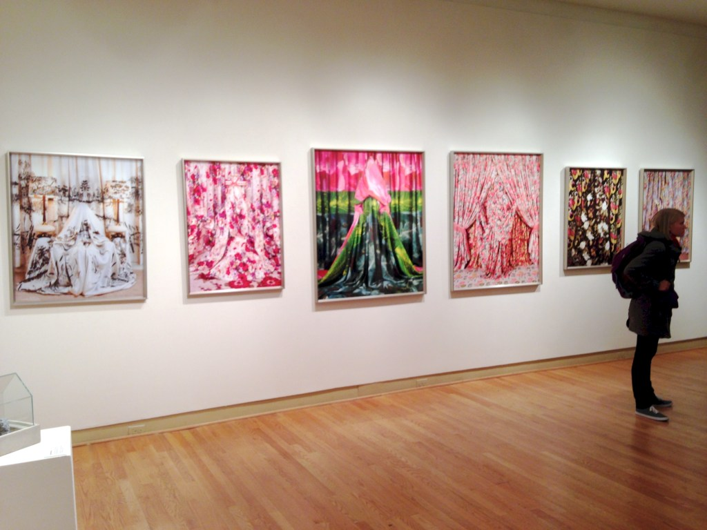 "Installation shot of Patty Carroll's work in ""The Nature of a Collective"" at UIMA in Chicago (photo and sincere apologies for poor production quality by Elin Spring)"