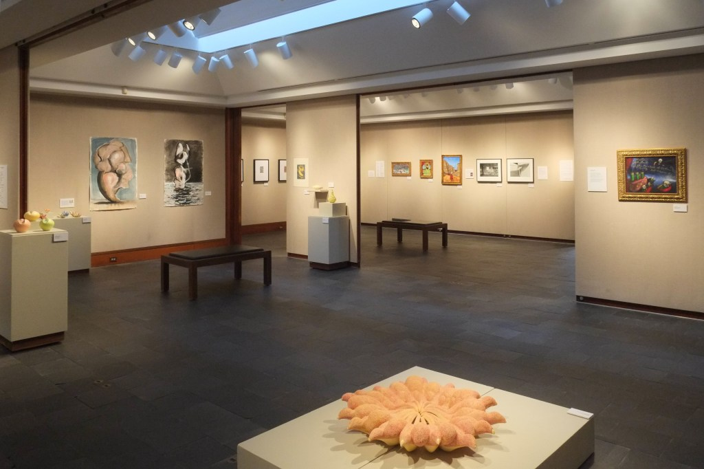 """Installation shot of """"Strange Days"""" on exhibit in Lamont Gallery at Phillips Exeter Academy in Exeter, N.H. through December 15, 2014 (photo by Bill Franson)"""