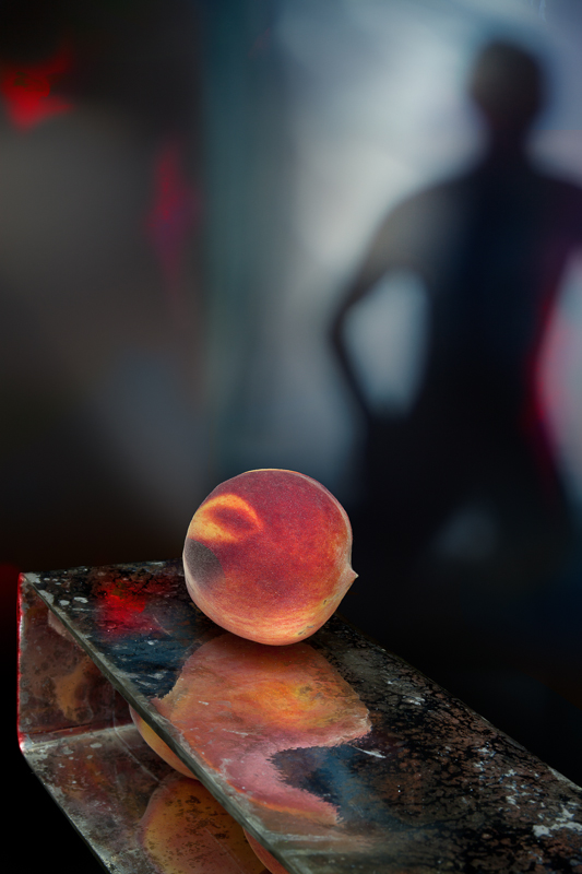 """""""The Peach, 2012"""" Epson Ultrachrome print from the series """"Still/Life"""" by Olivia Parker (courtesy of the artist and Robert Klein Gallery, Boston)"""