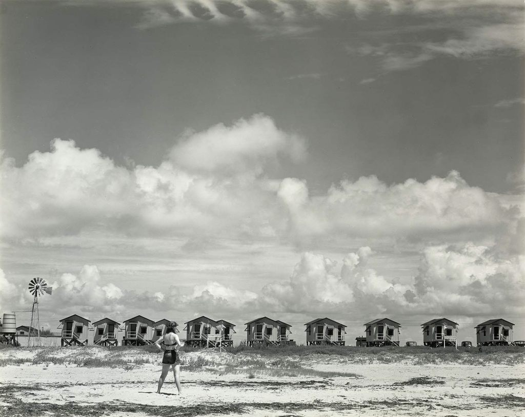 """Charis and Our Camp, Galveston, Texas, 1941"" gelatin silver print by Edward Weston from The Lane Collection, appeared in the MFA, Boston exhibit ""Edward Weston: Leaves of Grass"" in 2010, curated by Karen Haas (courtesy of MFA, Boston)"