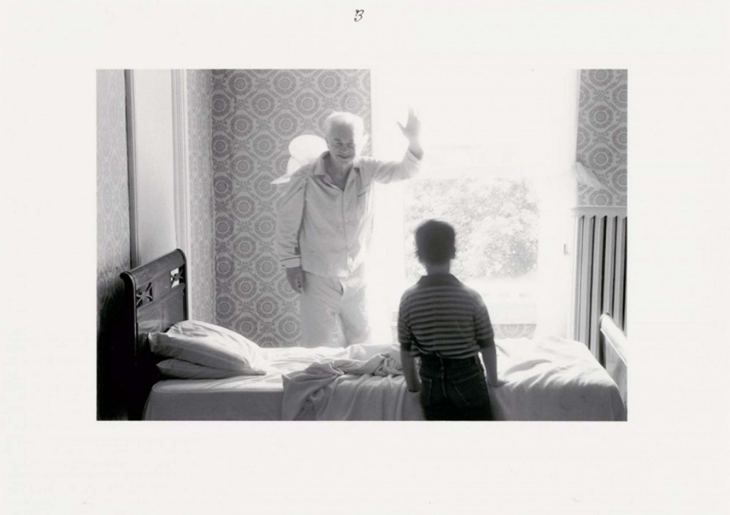 """Frame #3 of 5 from the series """"Grandpa Goes To Heaven, 1989"""" by Duane Michals (courtesy of the artist and Carnegie Museum of Art, Pittsburgh)"""