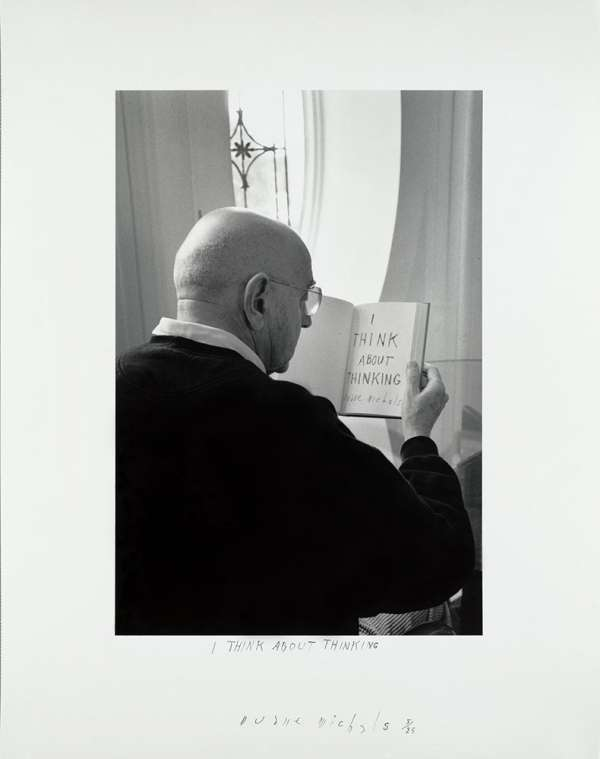 """""""I Think About Thinking, 2000"""" by Duane Michals (courtesy of the artist and Carnegie Museum of Art, Pittsburgh)"""