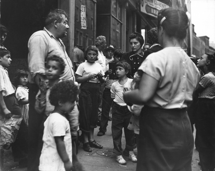 """""""The Argument, West End, Boston c. 1947"""" by Jules Aarons (courtesy of the Jules Aarons Estate and Gallery Kayafas, Boston)"""