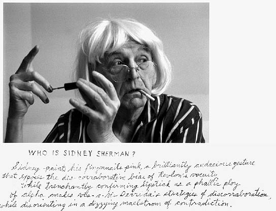 """Frame #1 of 6 from """"Who Is Sidney Sherman?, 2000"""" by Duane Michals (courtesy of the artist and Carnegie Museum of Art, Pittsburgh)"""