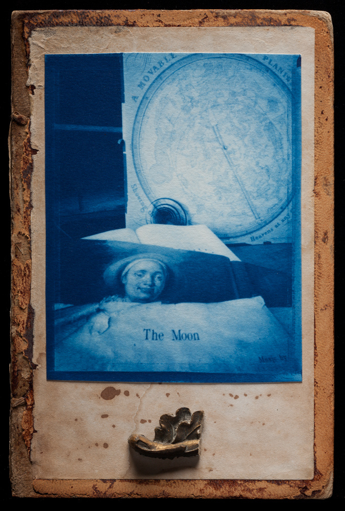 """""""The Moon, 2010"""", created with pinhole camera, cyanotype process and assembled objects by Jesseca Ferguson (courtesy of the artist)"""