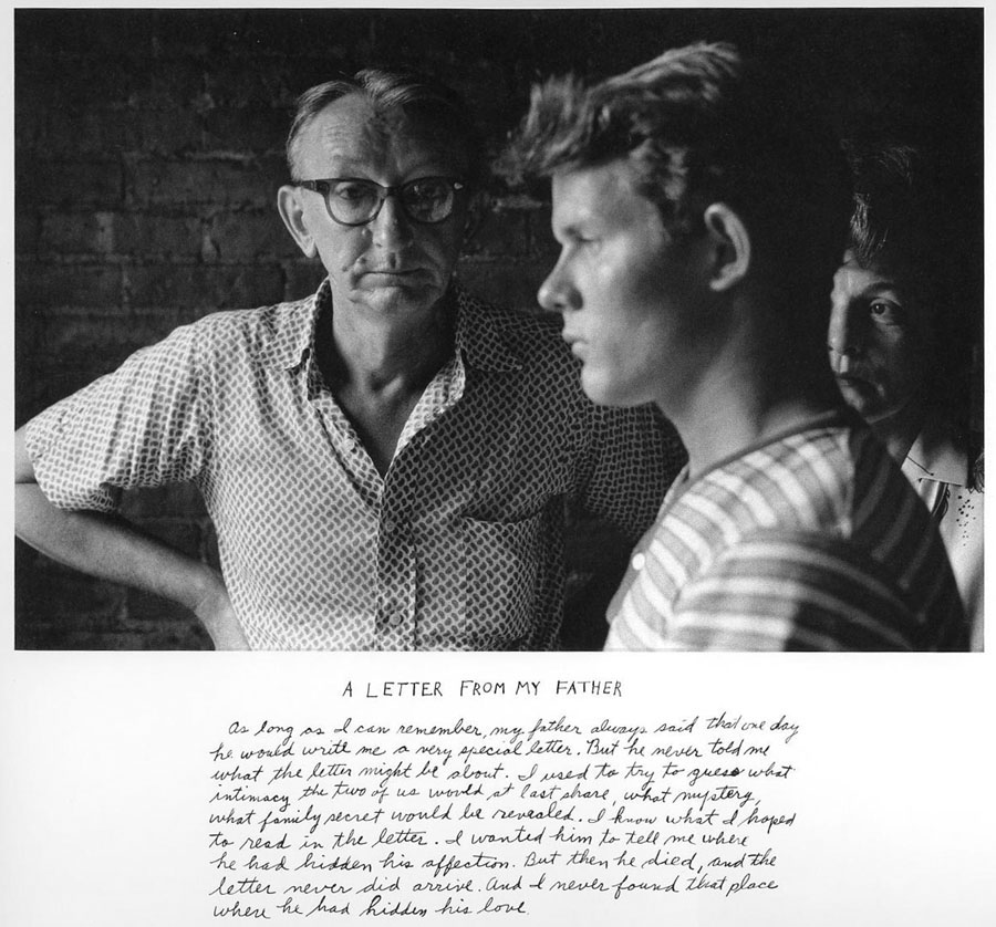 """""""A Letter From My Father, 1960/1975"""" by Duane Michals (courtesy of the artist and Carnegie Museum of Art, Pittsburgh)"""