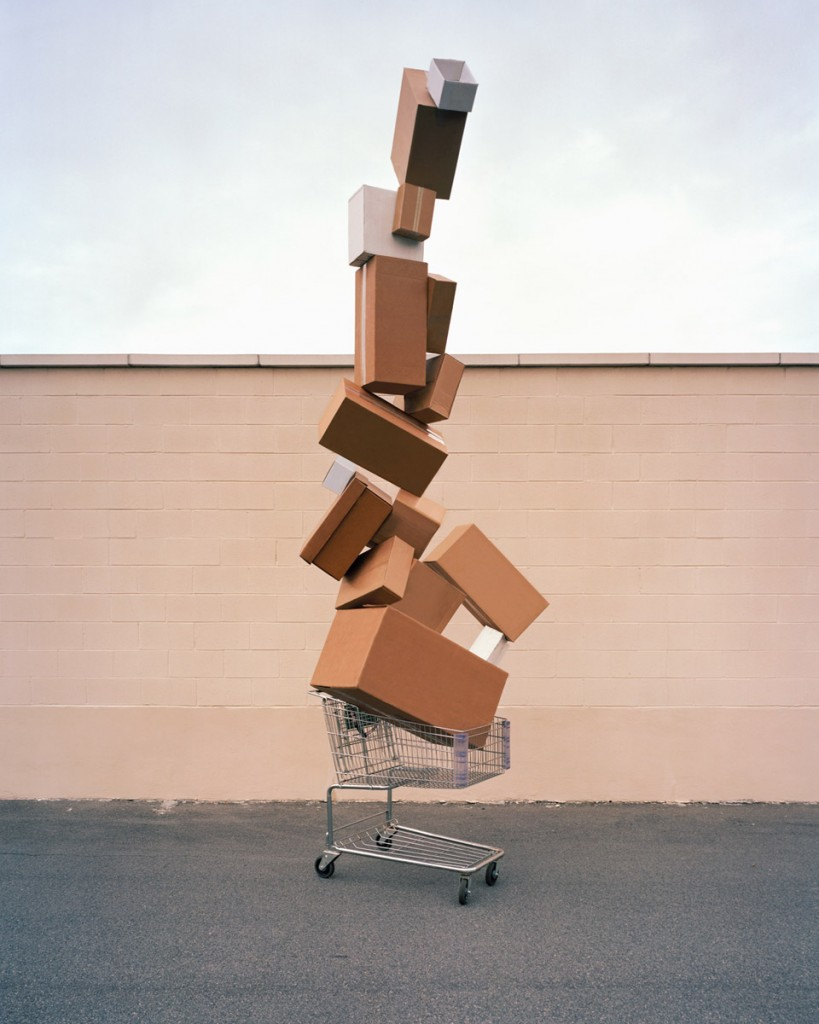"""Shopping Totem, 2011"" from the series Material World by David Welch (courtesy of the artist and Griffin Museum of Photography)"