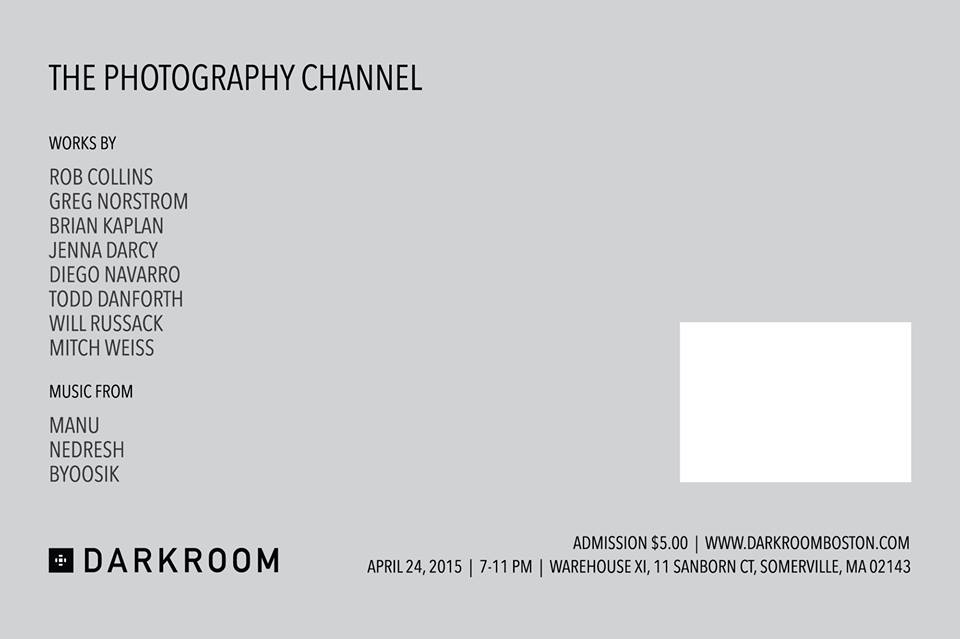 Don't miss this one-night event featuring 8 photographers and live music, sponsored by Darkroom.