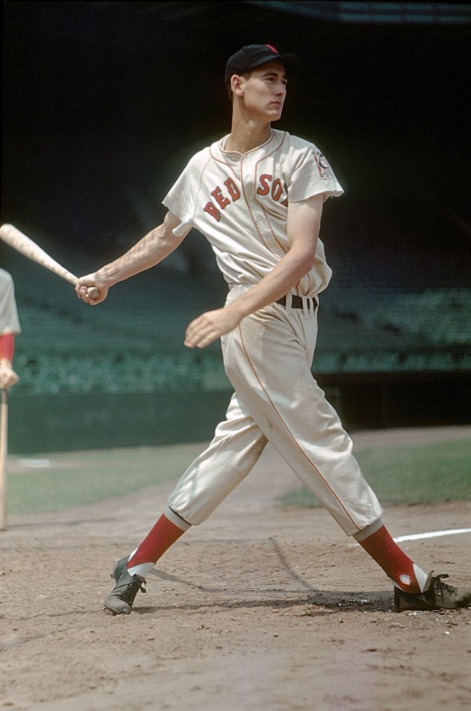 """""""The Swing"""", photograph of Boston Red Sox legend Ted Williams by Arthur Griffin (courtesy of the Griffin Museum)"""