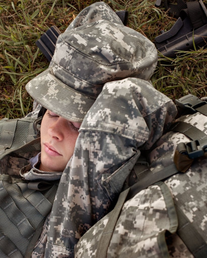 """Powers Sleeping, Fort Dix, NJ, 2012"" from the series Fall In by Alejandra Carles-Tolra (courtesy of the artist)"