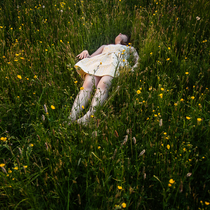 """""""The Buttercups, Devin, Camden, Maine, 2013"""" by Cig Harvey (courtesy of the artist and Robert Klein Gallery, Boston)."""