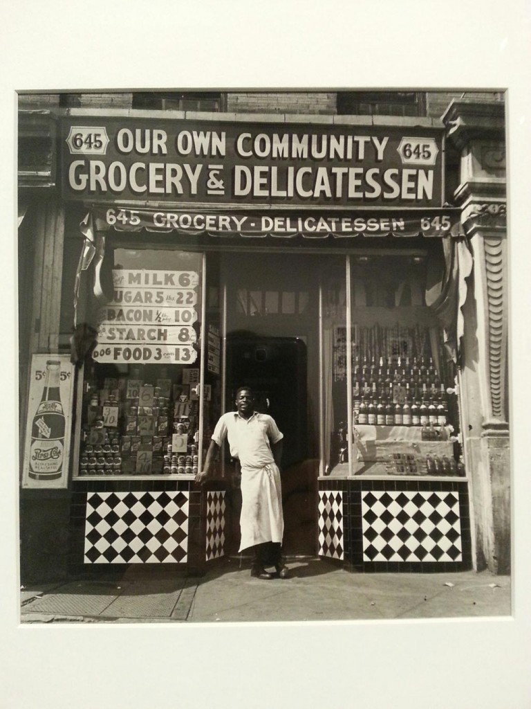 """""""Grocery Store, 1940"""" by Aaron Siskind, gelatin silver print from """"Harlem Document Portfolio"""" (courtesy of the Addison Gallery, Andover, MA)."""