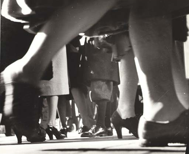 """""""Running Legs, NYC, 1940"""" gelatin silver print by Lisette Model (courtesy of the Addison Gallery, Andover, MA)"""