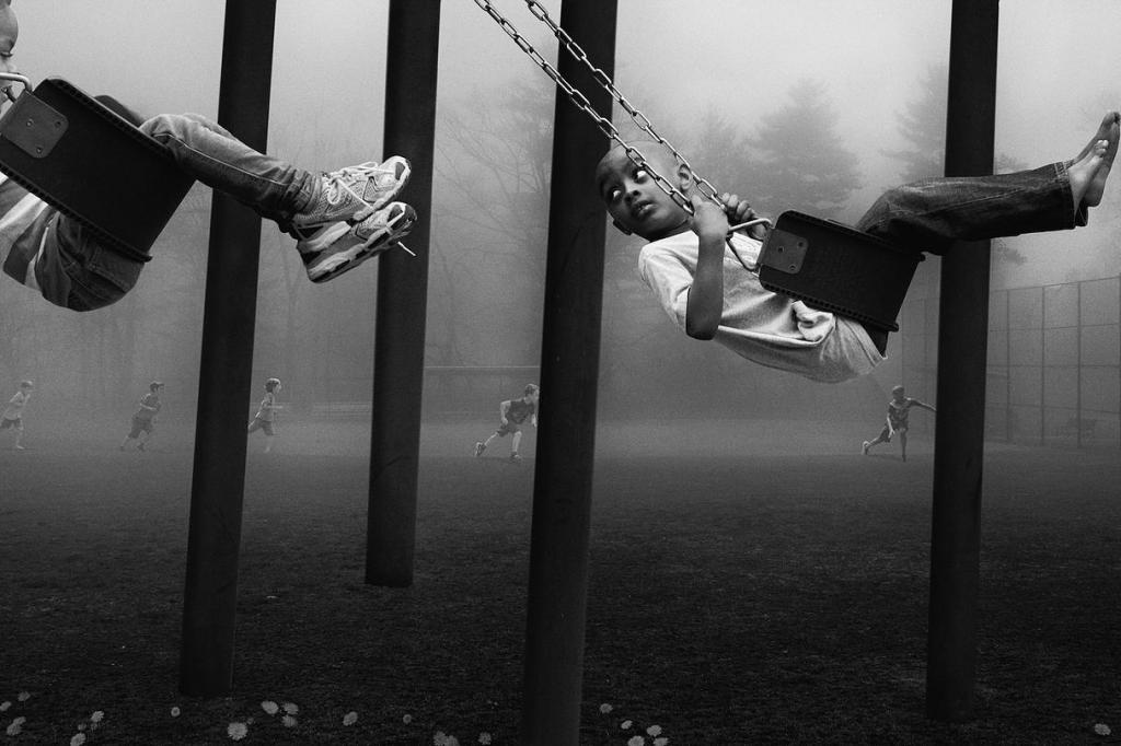 """""""The Chase, 2014"""" from The Playground Series by Francisco Diaz and Deb Young, as part of The International Collaboration Project (courtesy of the artists)."""