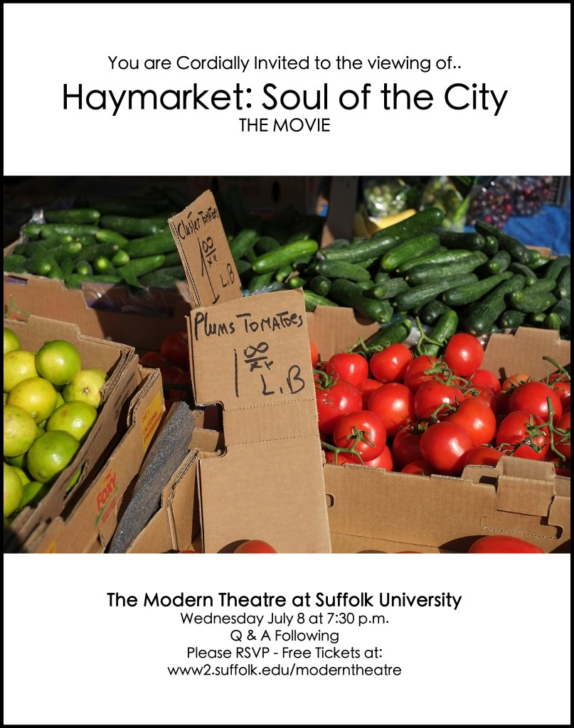"""Justin Goodstein's """"Haymarket: The Soul of the City"""" at Suffolk University."""