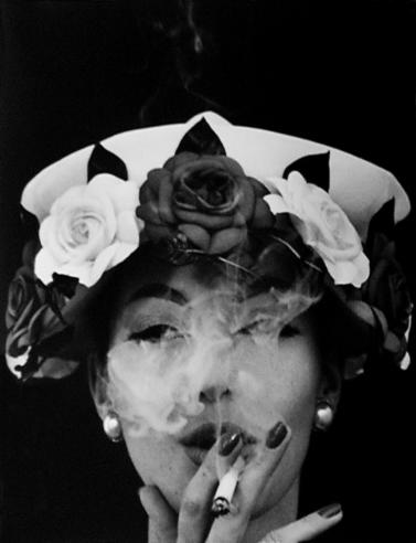 """""""Hat and Five Roses, Paris, France, 1956"""" by William Klein (courtesy of the artist and Robert Klein Gallery, Boston)"""
