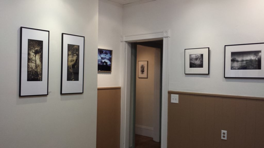 Installation view of Somerville Toy Camera Festival at Nave Annex; photographs at near left by Marky Kauffman (photo by Bonnie Bee).