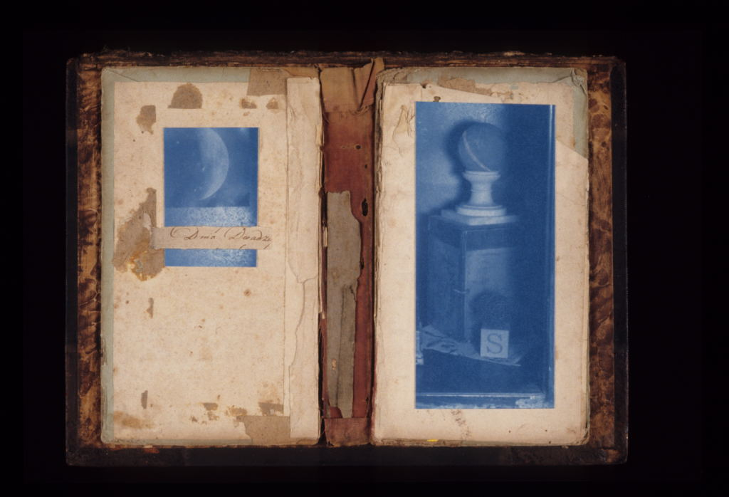 """Blue Moon Diptych (constructed), 2006"" by by Jesseca Ferguson (courtesy of the artist and Worcester Art Museum, Worcester, MA)."