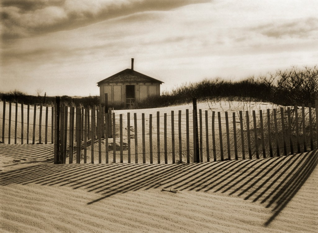 """Dune Shack I"" by Christine Triebert (courtesy of the artist and 555 Gallery, Boston)."