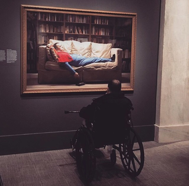 """Michael viewing """"Michael"""" at the National Portrait Gallery in Washington, D.C. (photo courtesy of Alex Ashley)."""
