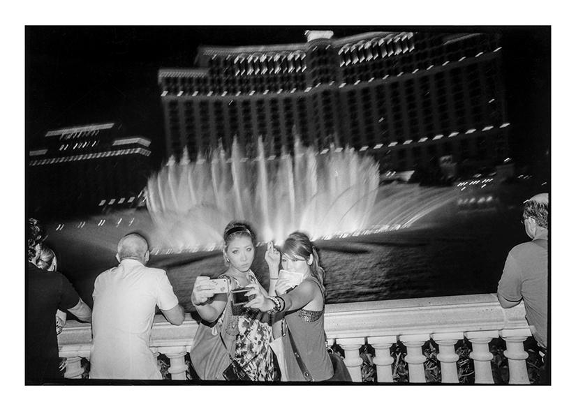"""Fountains of Bellagio, Las Vegas, NV, 2011"" by Michael Hintlian (courtesy of the artist)."