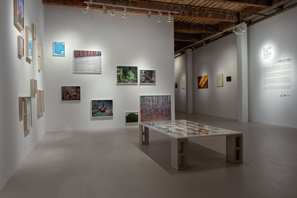 Installation view of Lines of Sight, the Flash Forward Festival exhibit on view at Midway Studios in Boston through June 10, 2016.