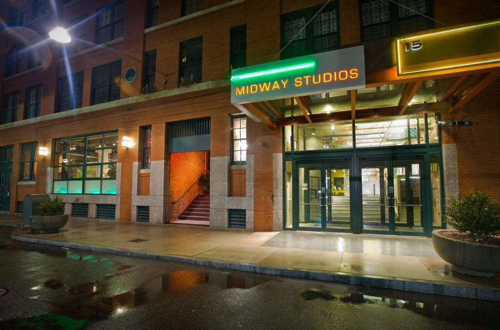 Midway Gallery at Midway Artist Studios in the Fort Point arts district of Boston.