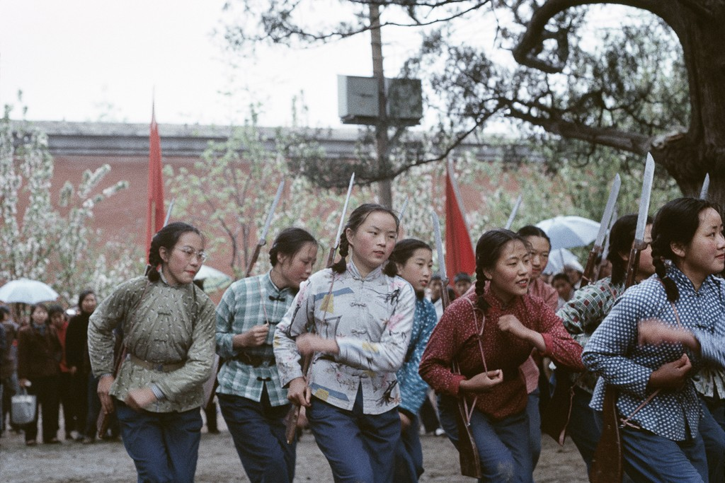"""Untitled (revolutionary song and dance in the Workers Park on Labour Day, a month before the Cultural Revolution was launched), Beijing, China, May 1, 1966"" by Solange Brand (courtesy of the artist and Robert Klein Gallery, Boston)."