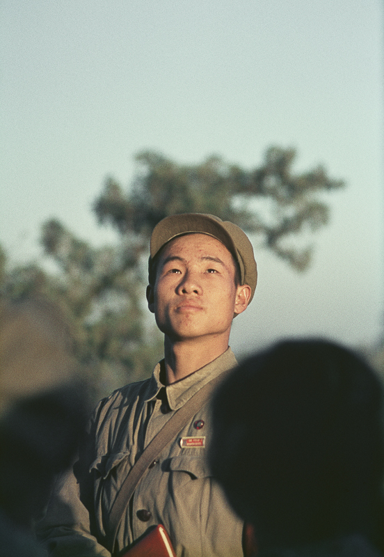 """Untitled (a Red Guard having his picture taken by his friends in Beihai Park), Beijing, China, November 1966"" by Solange Brand (courtesy of the artist and Robert Klein Gallery, Boston)."