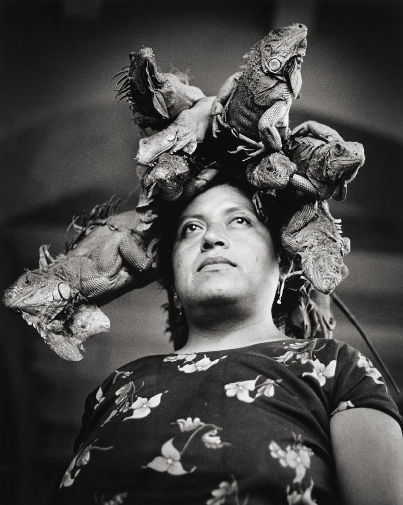 """""""Nuestra Senora de las Iguanas, Juchitan, Oaxaca, 1996"""" by Graciela Iturbide (courtesy of the artist)."""