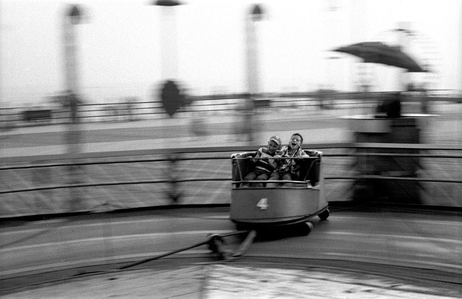 """The Whip, Coney Island, 1954"" by Harold Feinstein (courtesy of the Harold Feinstein Photography Trust)."