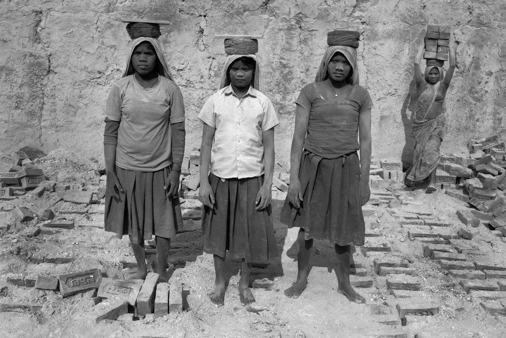 """""""Brick Workers, 2014"""" by Anja Bruehling (courtesy of the artist)."""