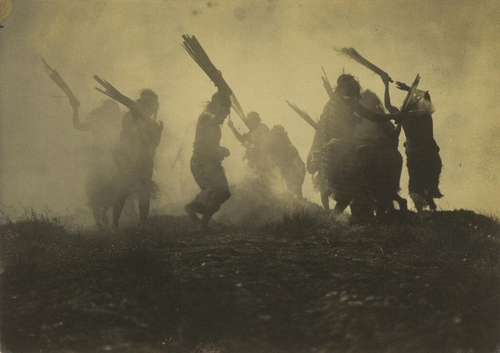"""Eclipse Dance, 1910-1914"" gelatin silver print by Edward S. Curtis (courtesy of the J. Paul Getty Museum, Los Angeles)."