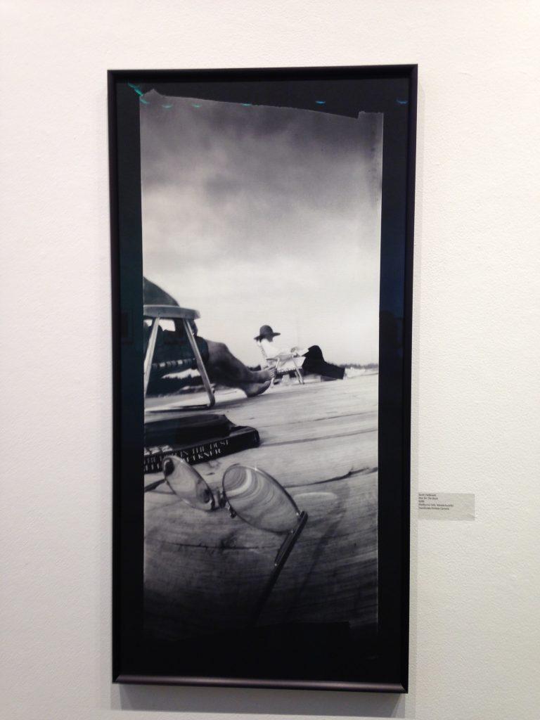 """Ann On The Dock"" by Sarah Holbrook, handmade pinhole camera (courtesy of the artist)."