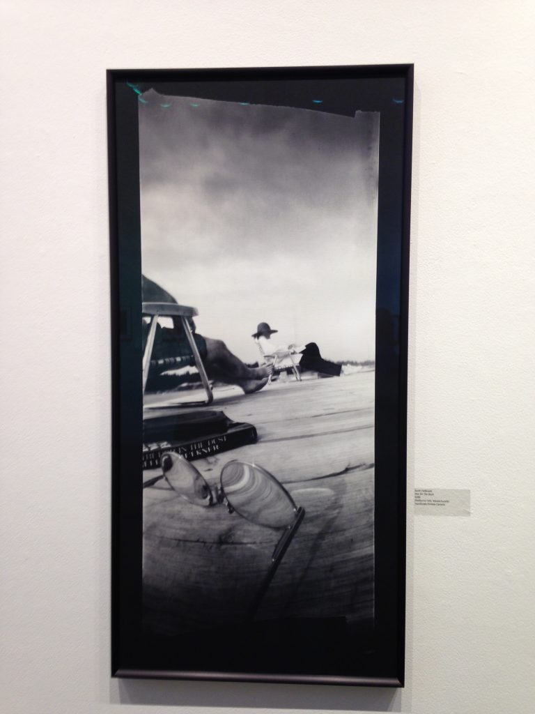 """Ann On The Dock"" by Sarah Holbrook, handmade pinhole camera (courtesy of the artist)."