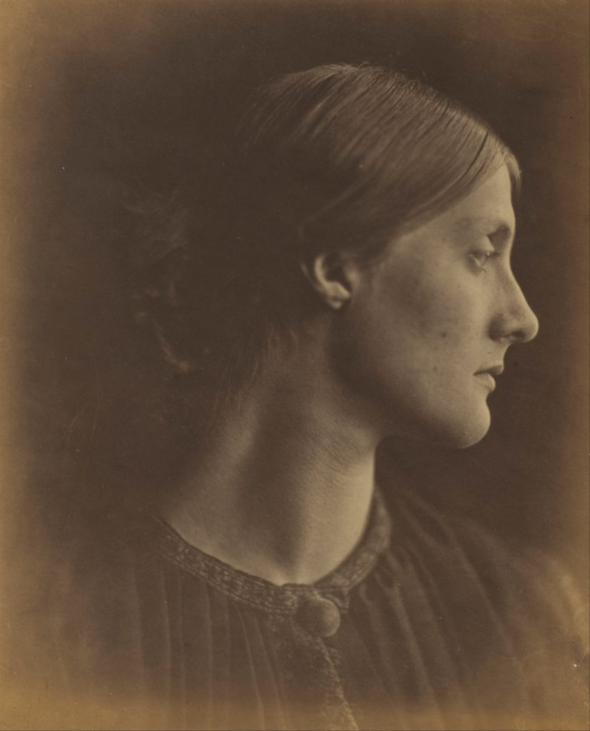 """Mrs. Herbert Duckworth, 1867"" albumen silver print by Julia Margaret Cameron (English, born India, 1815-1879(courtesy of the J. Paul Getty Museum, Los Angeles)."