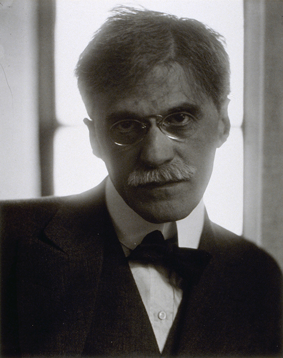 Edward Steichen. Alfred Stieglitz, 1915; printed 1982, silver gelatin print, 9 5/8 x 7 3/4 inches (image and paper), Gift of Stephen L. Singer and Linda G. Singer.