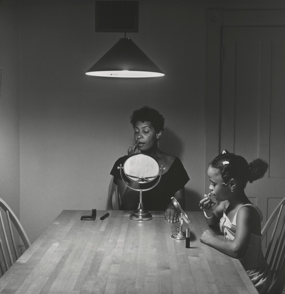 """Untitled (Woman and daughter with make-up)"" from the Kitchen Table series by Carrie Mae Weems (courtesy of the artist and Jack Shainman Gallery, NY)."