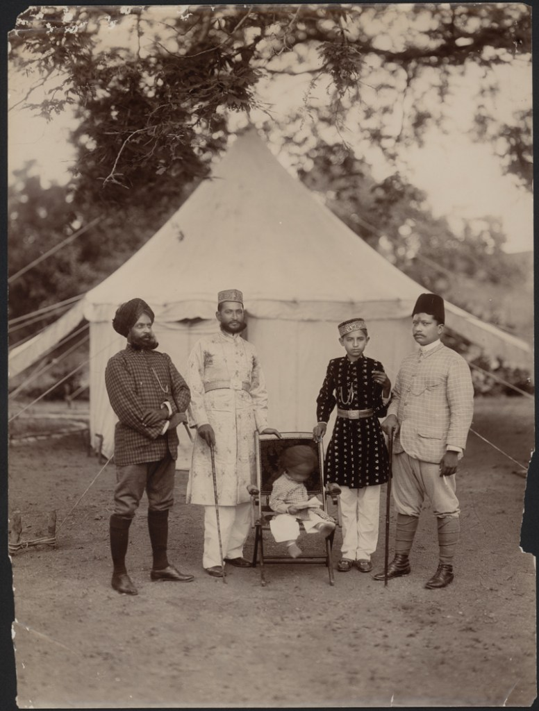 """A Royal Family, India, late 19th century"" gelatin silver print by Lala Deen Dayal (India, 1844-1905), (courtesy of the Peabody Essex Museum, Salem, MA)."