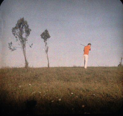 Jaques Henri Lartigue Me Practicing Golf in a Meadow in Rouzat, 1914 © Ministère de la Culture_France/AAJHL