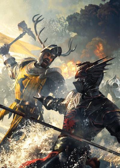 Jon's biological father (right) vs. Jon's king (left).   Artwork by Michael Kormack.